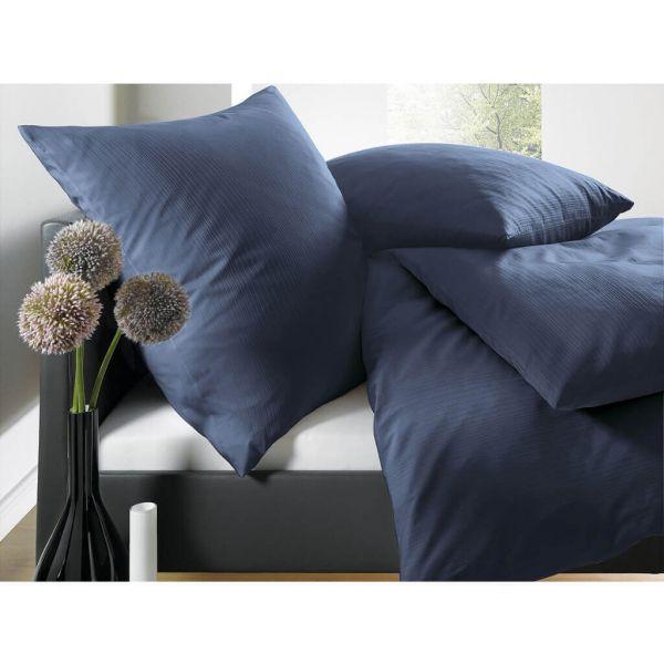 Schlafgut Select Uni Mako-Satin Damast-Bettwäsche mit eleganten Schattenstreifen