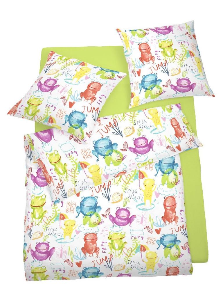 Kinder Bettwäsche 135x200 Schlafgut Daily Cotton Baumwolle Ornamente