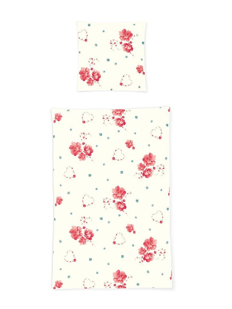 bettwäsche 135x200 seersucker Irisette Calypso Blumen Geblümt Floral 2er Pack